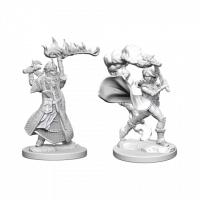 Pathfinder Deep Cuts Unpainted Miniatures - Human Female Cleric (WZK72601)