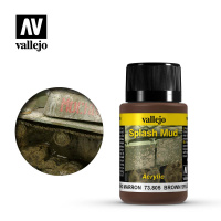 Краска-эффект Vallejo Weathering Effects - Brown Splash Mud (73805) 40 мл