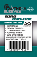 Протекторы Премиум Pantheon Sleeves Euro Zeus Epic 59 x 92 mm 55 шт (E-107)