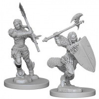Pathfinder Deep Cuts Unpainted Miniatures - Half Orc Female Barbarian (WZK72614)